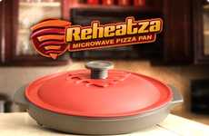 Leftover-Warming Plates - The Reheatza Heats Pizza in the Microwave Without Making it Soggy