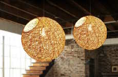Nest-Inspired Lamps - The Spherical Bine Pendant Lamp Creates a Charming Lighting Aesthetic