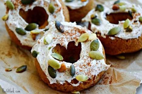 Protein-Filled Pumpkin Donuts