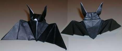 Spooky Origami Bats