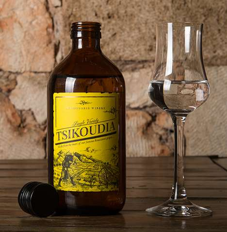 Pharmaceutical Wine Bottles - Tsikoudia is a Uniquely Bottled Offering from a Cyprus Winery