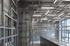 Brain-Inspired Drug Stores - The 'House of Smart' is Made Up of Maze-Like Brainwave Shelving Units.