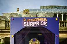 Chocolate Fortune Booths - Cadbury's 'Joynormous' Chocolate Giveaway Features Freddie Flintoff