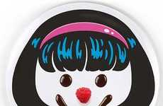 Hairdo Dinner Plates - These Novelty Kitchen Items Give Cartoon Hairstyles to Food