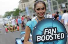 Fan-Powered Racing Events - This Electric Motor Racing Event Lets Fans Give Racers More Power