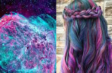 Celestial Technicolor Hairstyles - This Bold Tie-Dye Hair Color is Inspired by Swirling Galaxies