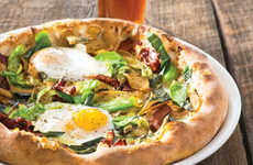 Hearty Breakfast Pizzas - This Breakfast Dish is Infused with Traditional Pizza Toppings