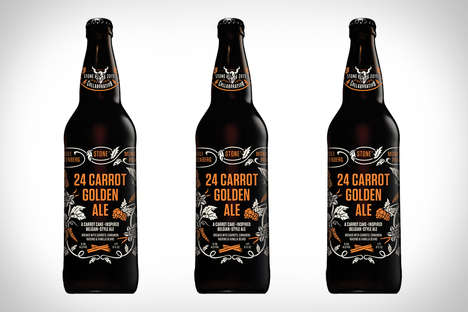 Carrot Cake Beers - The Stone 24 Carrot Golden Ale is a Scrumptious Brew for the Cooler Weather