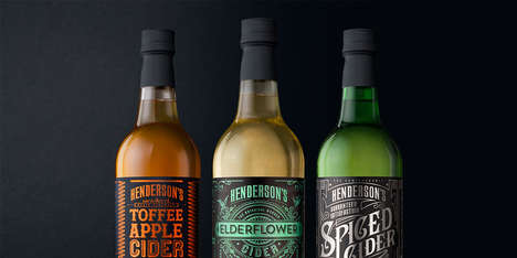 Victorian-Labeled Ciders - This Range of Henderson's Cider was Inspired by Old Victorian Posters