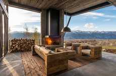 Contemporary Mountain Cabins - This Wyoming Home Blends Natural Scenery With Modern Design Details
