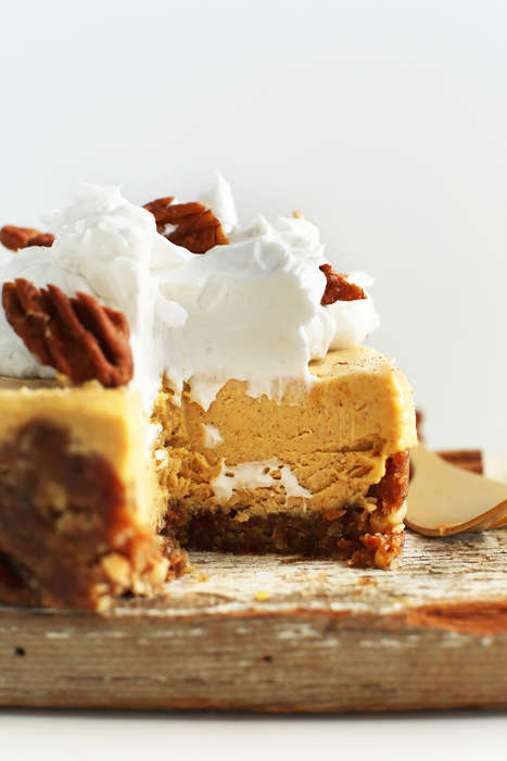 Vegan Pumpkin Cheesecakes