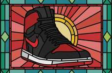 Stained Glass Sneaker Art