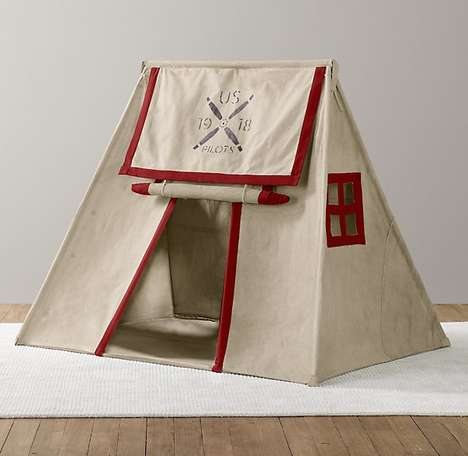 Camp-Themed Playhouses - This Canvas Tent Doubles as an Outdoorsy Home Accessory for Kids