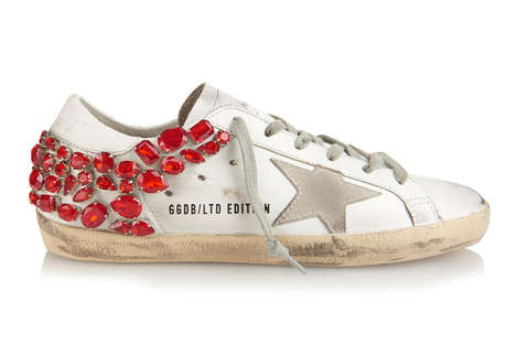 Crystal-Covered Sneakers