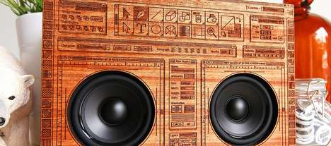 Wooden Bluetooth Boomboxes