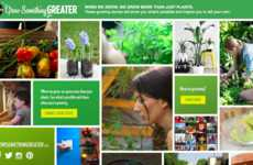 Gardening Inspiration Campaigns - Miracle-Gro's 'Grow Something Greater' is Styled Like Pinterest