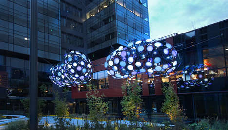 These High-Tech Lights Resemble Futuristic Robot Clouds