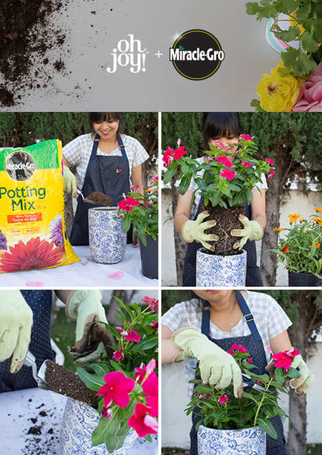 Gardening Blogger Projects - Miracle-Gro and Oh Joy! Team Up to Share DIY Garden Projects