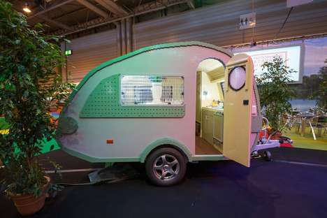 Teardrop LEGO Trailers - This Life-Sized LEGO Caravan Earned Itself a Guinness World Record