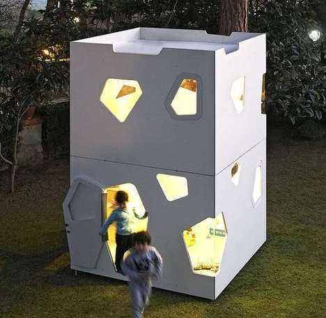 Two-Storey Playhouses - The SmartPlayhouse Kyoto Maxi is a Home Away From Home for Children