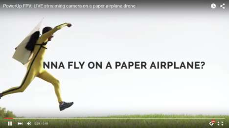 Live-Streaming Toy Planes - This Smartphone-Controlled Paper Airplane Offers a Pilot's View