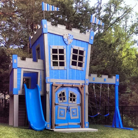 Regal Backyard Castles - This Castle Playhouse is Ideal for Pampering Little Kings and Queens to Be