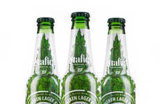Leaf-Covered Beer Labels - This Limited-Edition Heineken Label Features a Nod to the Trafiq Club