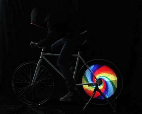 Luminous LED Bike Wheels