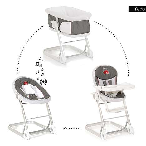 Adaptable Baby Furniture - i'coo's Grow With Me 1-2-3 Includes a Bassinet, Bouncer and More