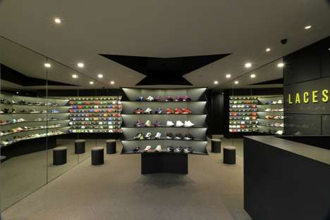 Gallery Sneaker Shops - LACES Show Store Only Sells Limited Edition Sneakers and Hats
