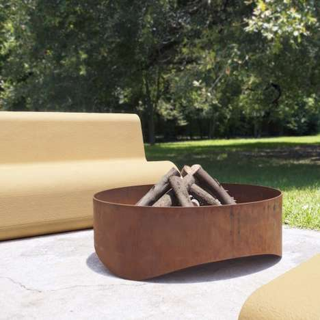 Sleek Steel Fire Pits