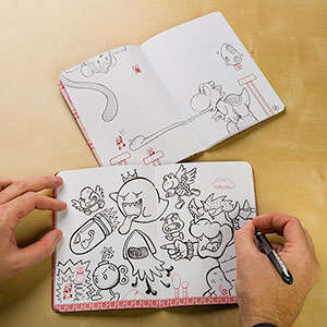 Pixalted Gamer Notepads - These Super Mario Mini Booklets are Ideal for Doodling or Writing