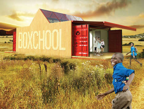 The 'Boxchool' is a Modular School for Lower Developed Countries