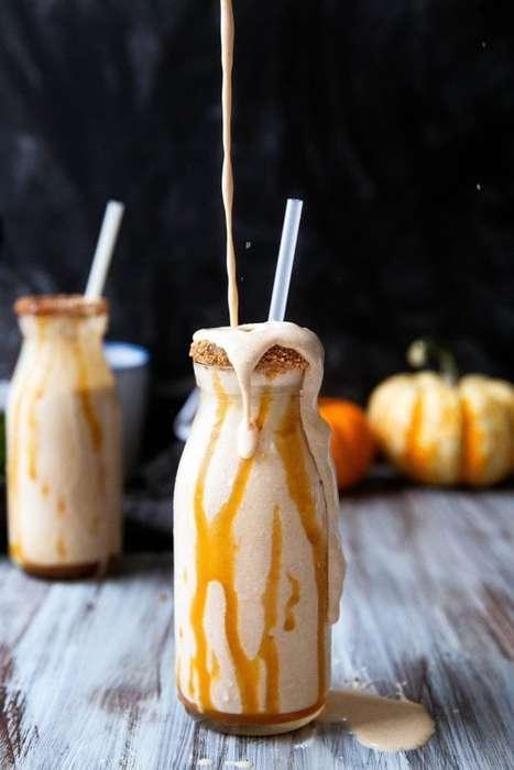 Boozy Pumpkin Milkshakes