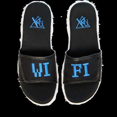 Internet-inspired Slide Slippers