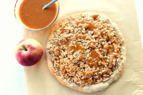 Caramel Apple Pizzas - Chocolate With Grace's Dessert Pizza Boasts a Sweet and Savory Flavor Blend