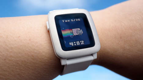 Voice Recognition Smartwatch Apps - The Pebble Time Smartwatch App Supports Voice Recognition