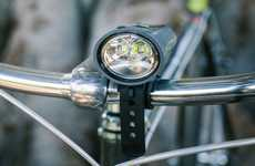 Waterproof Cycling Accessories - The Taz 1500 Mad Wolf All-In-One Bike Light is Ruggedly Designed