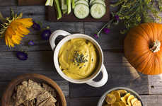 Autumnal Appetizer Recipes - This Herbed Cashew and Pumpkin Dip Makes a Savory Seasonal Snack