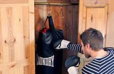 Boxing Home Decor - The Punching Bag Laundry Bag Allows You to Take Out Aggression Healthily