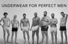 Body Positive Underwear Ads - This Ad Features Men of Many Different Body Types