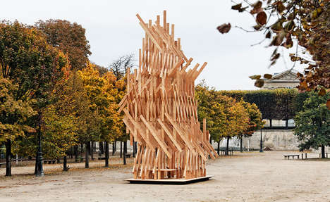 This Pavilion Was Inspired by the Idea of a Temporary Living Structure
