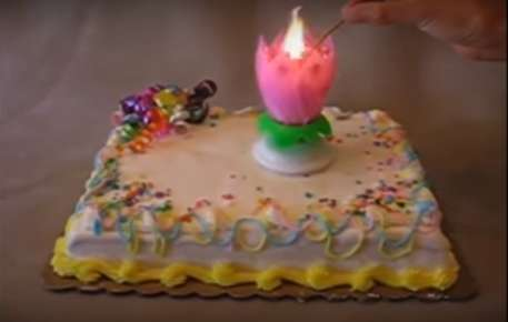 Rotating Birthday Candles