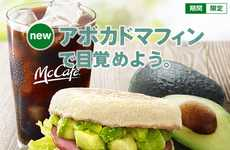 Fast Food Gourmet Toast - This Avocado Sandwich is the Latest Breakfast Offering at McDonald's Japan