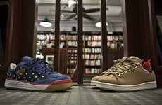 Rugged Co-Branded Sneakers (UPDATE) - adidas' Vanguard Collection Has a Navy Nubuck & Tan Wool Shoe