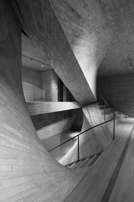 Twisted Concrete Galleries - This Contemporary Art Center Features Unusual Dimensions