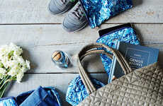 Charitable Water Print Bags - These Quilted Handbags Support Access to Clean Drinking Water