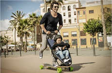 Adventurous Longboard Strollers - This Speciality Baby Stroller is Designed for Speedy Urban Travel