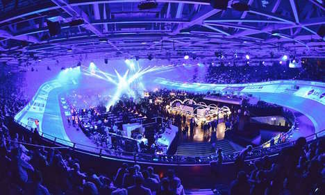 Electric Bike-Racing Parties - This Track Cycling Event Boasts DJs, Libations and a Light Show