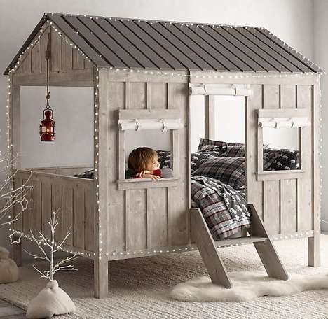 Cabin-Inspired Children's Beds